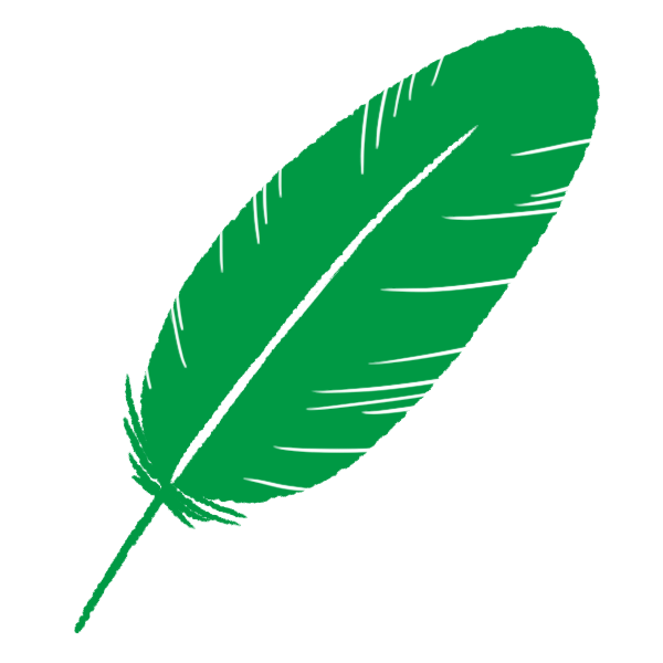 緑の羽根のイラスト