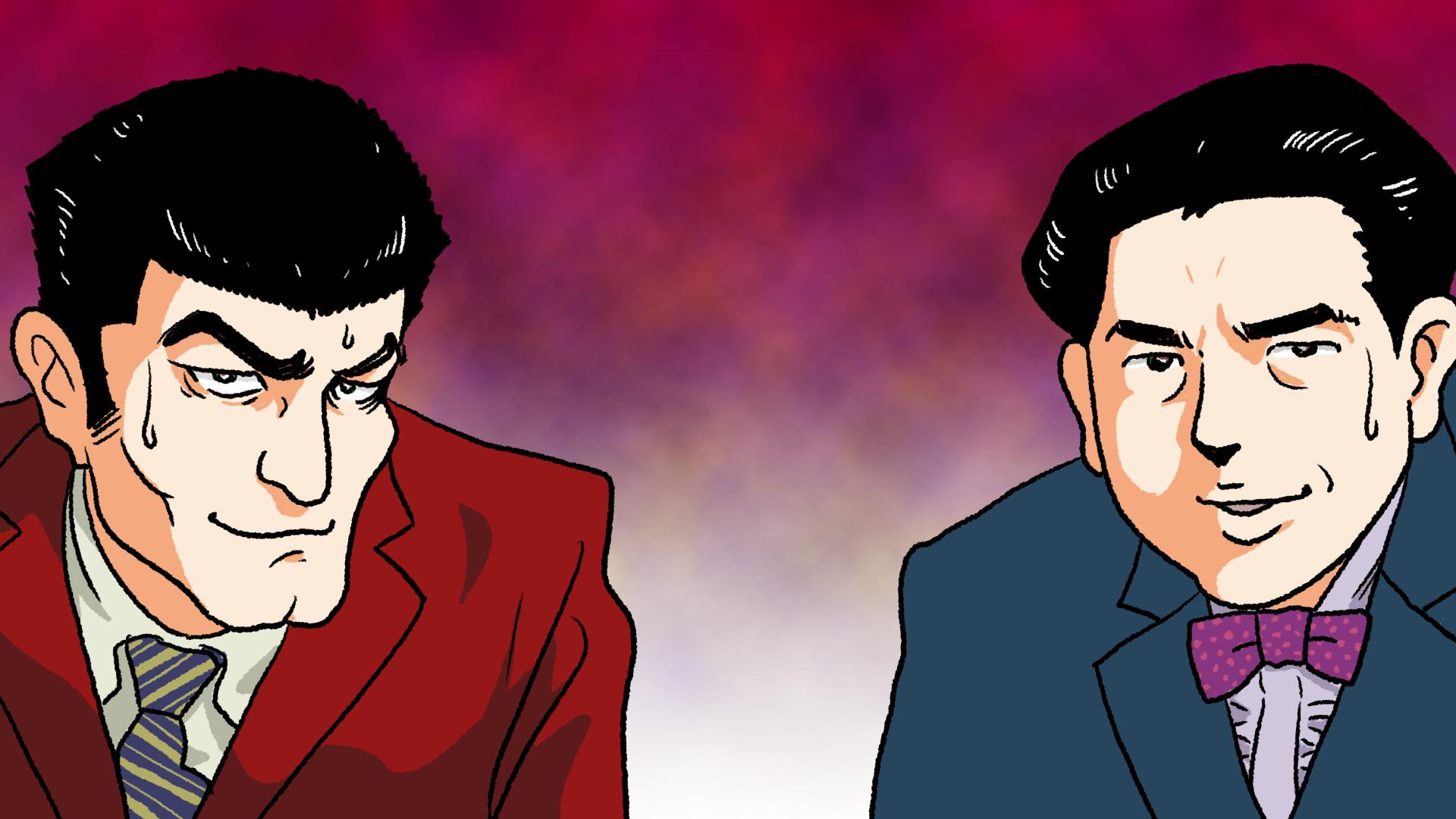 2人の男性のイラスト 背景