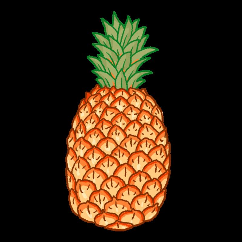 完熟したパイナップルのイラスト
