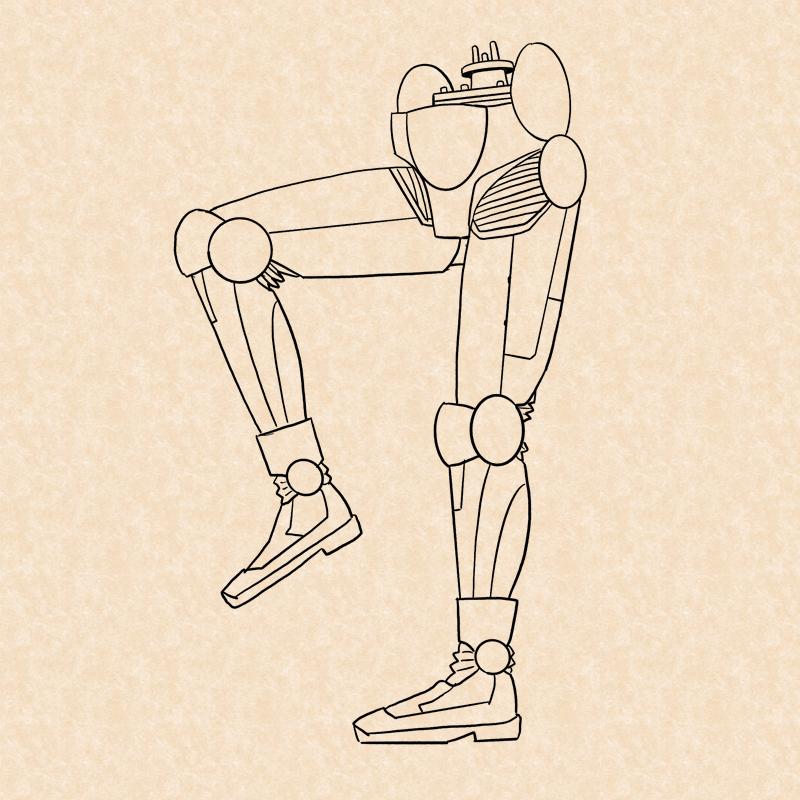 アンドロイドの足のイラスト